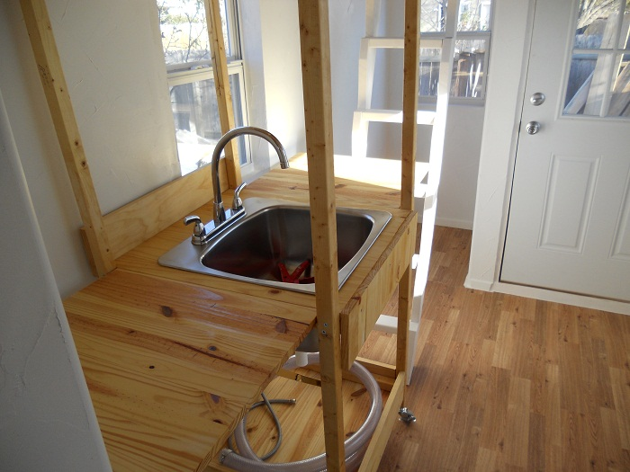 Tiny House Sink and Toilet Austin Tiny House