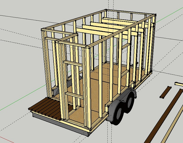 Tiny House Wall Framing Sketchup | Austin Tiny House