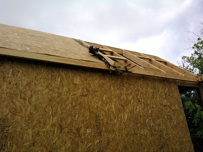 Harness System for Tiny House Roofing
